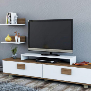 NOELLA TV UNIT WHITE NUTS (PU3-233)