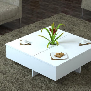 AMETHYST MEDIUM TABLE WHITE (KL3-139)