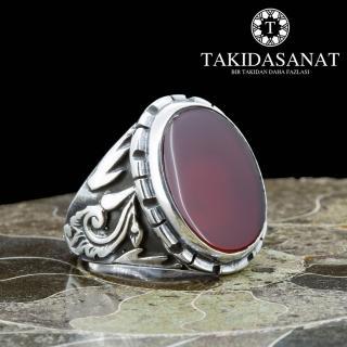 خاتم فضة حجر عقيق