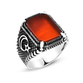 خاتم من الفضة و حجر العقيق