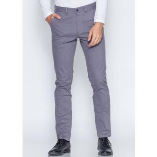 Men's Grey Regular Fit Casual Pants